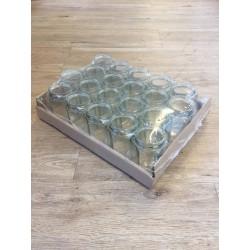 Glazen pot hexa 378ml/350gram tray (20 stuks)